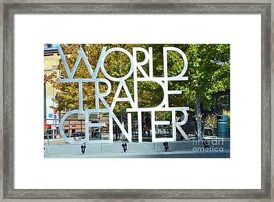 World Trade Center Framed Print by Kathleen Struckle