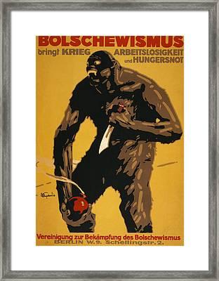 World War I, Bolshevism, German Poster Framed Print by Everett
