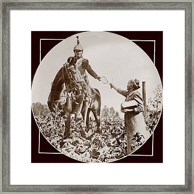 World War I, Bread For A French Soldier Framed Print by Everett