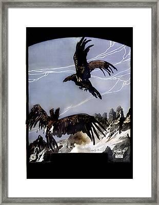 World War I, Italian Eagle Attacking Framed Print by Everett