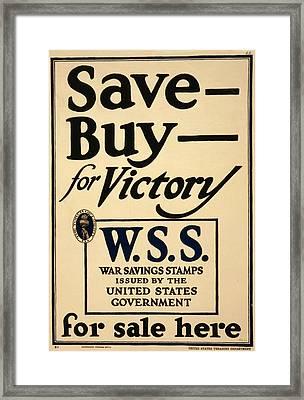World War I, Poster - Save - Buy - Framed Print by Everett