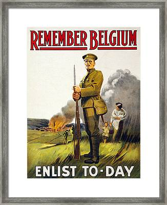 World War I, Recruitment Poster Poster Framed Print by Everett