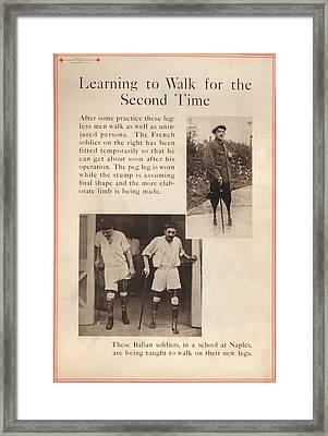 World War I, Red Cross Poster Showing Framed Print by Everett