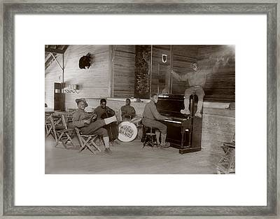 World War I, U.s. Army Jazz Band, Circa Framed Print by Everett