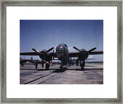 World War II, B-25 Bomber Planes Framed Print by Everett