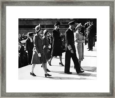World War II. From Left Future British Framed Print by Everett