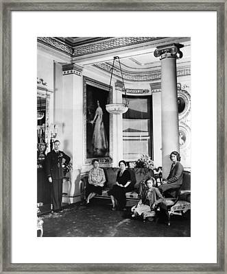 World War II. From Left King George Vi Framed Print by Everett