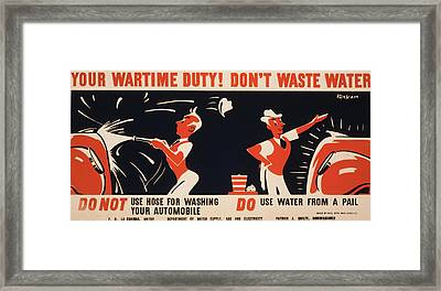 World War II, Poster For A New York Framed Print by Everett