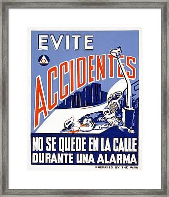 World War II, Poster Showing A Man Framed Print by Everett