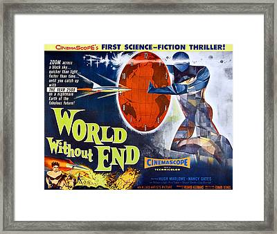 World Without End, Bottom Left Nancy Framed Print by Everett