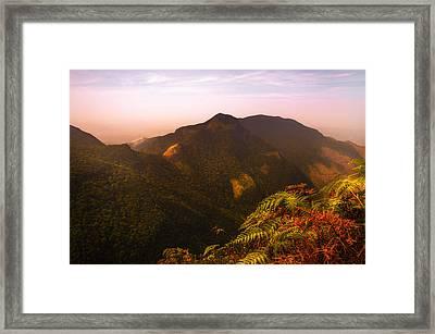 Worlds End. Horton Plains National Park I. Sri Lanka Framed Print by Jenny Rainbow