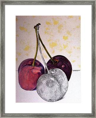 Worldview Cherries Framed Print by D K Betts
