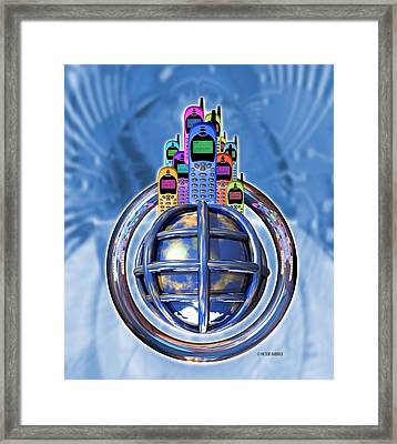 Worldwide Mobile Telephone Use Framed Print by Victor Habbick Visions