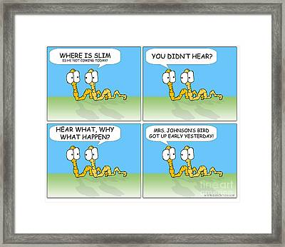 Worm And Worm Framed Print by Jack Norton