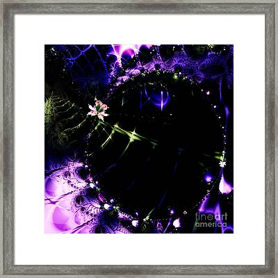 Wormhole Beyond . Square . S4a.s10 Framed Print by Wingsdomain Art and Photography