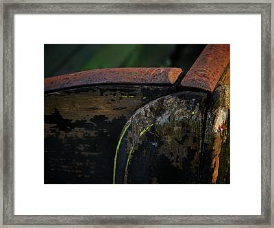 Worn Framed Print by Odd Jeppesen
