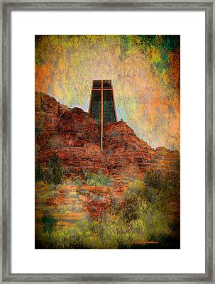 Worship In Sedona Framed Print by Dale Stillman