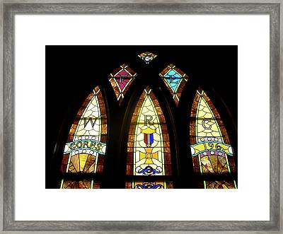 Wrc Stained Glass Window Framed Print by Thomas Woolworth