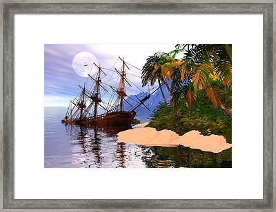 Wreck Of Hms Victory Framed Print by Claude McCoy