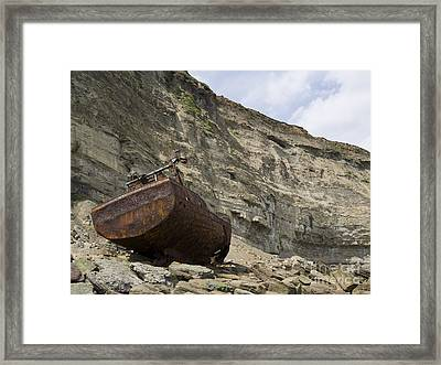 Wreck Of The Sarb J Framed Print by Steev Stamford