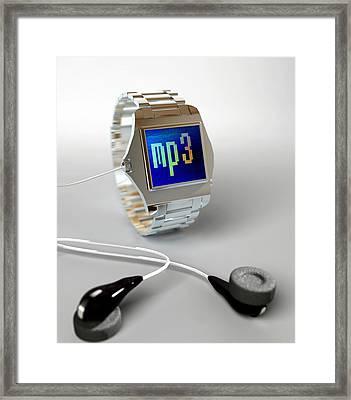 Wrist Watch Mp3 Player Framed Print by Christian Darkin