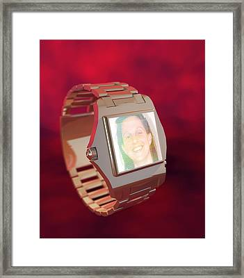 Wrist Watch Video Phone, Computer Artwork Framed Print by Christian Darkin