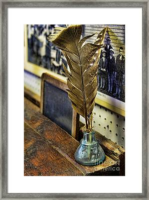 Writer - Quill And Ink Framed Print by Paul Ward