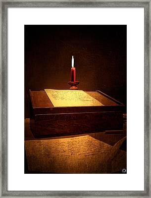 Written Past- Writers Paintings Framed Print by Lourry Legarde