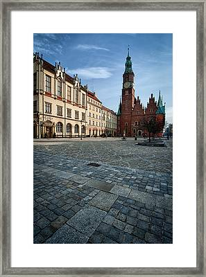 Wroclaw Town Hall Framed Print by Sebastian Musial