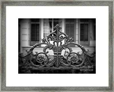 Wrought Iron Detail Framed Print by Perry Webster