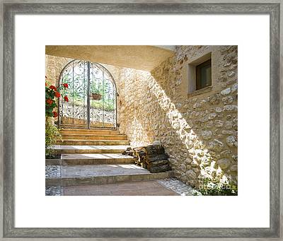 Wrought Iron Gate And Stairs Framed Print by Andersen Ross