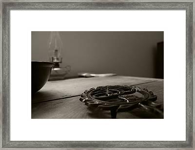 Wrought Iron Trivet Framed Print by Scott Hovind