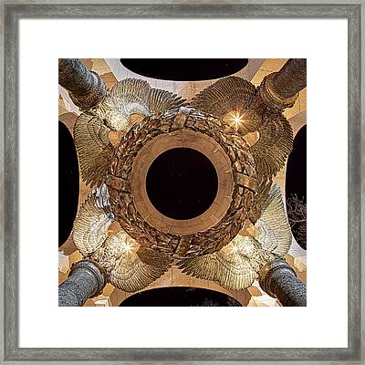 Ww II Memorial Victory Wreath Framed Print by Metro DC Photography