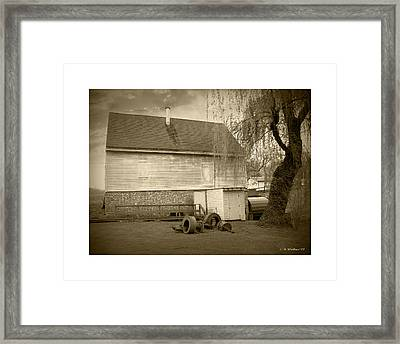 Wye Mill - Sepia Framed Print by Brian Wallace