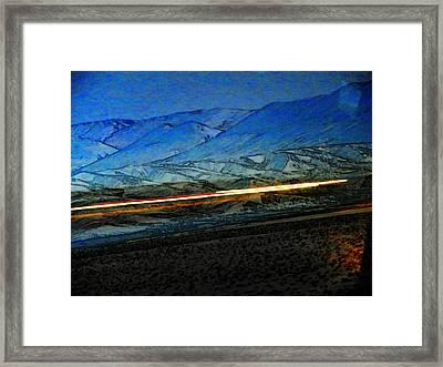 Wyoming I-25 2 Framed Print by Lenore Senior