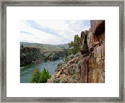 Wyoming River Framed Print by Wayne Toutaint