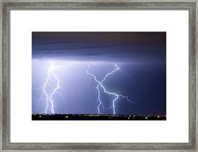 X In The Sky Framed Print by James BO  Insogna