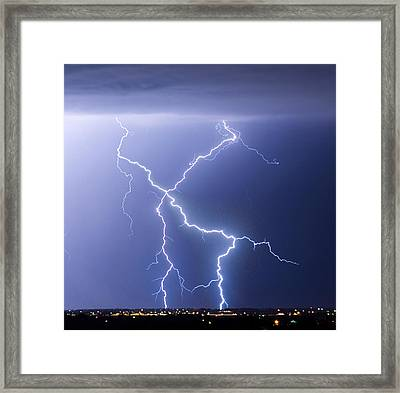 X Lightning Bolt In The Sky Framed Print by James BO  Insogna