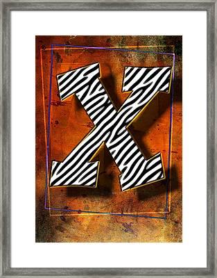X Framed Print by Mauro Celotti