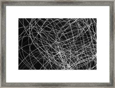 Xmas Lights - 2 Framed Print by Kevin Woolgar