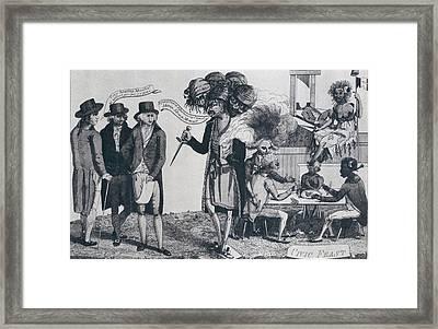 Xyz Affair Inspired This 1799 Cartoon Framed Print by Everett