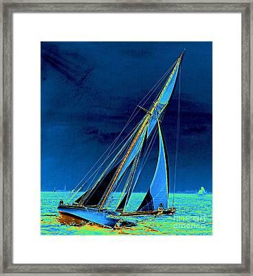 Yacht Shamrock In New York Harbor 1895 Framed Print by Padre Art