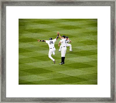 Yankee High Five Framed Print by Christopher McPhail