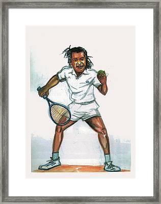 Yannick Noah Framed Print by Emmanuel Baliyanga