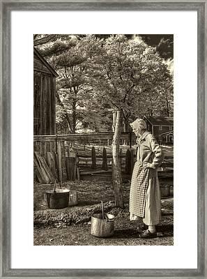 Yarn Dyeing Framed Print by Joann Vitali