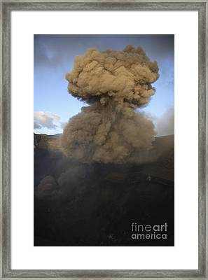 Yasur Eruption, Tanna Island, Vanuatu Framed Print by Martin Rietze