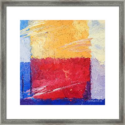 Yellow And Red Framed Print by Lutz Baar