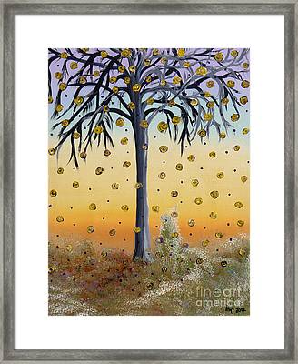 Yellow-blossomed Wishing Tree Framed Print by Alys Caviness-Gober