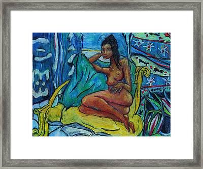 Yellow Chair 98 Framed Print by Bradley Bishko