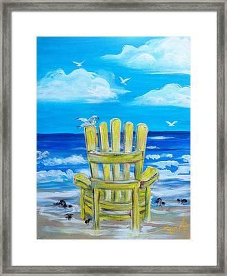 Yellow Chair Framed Print by Doralynn Lowe